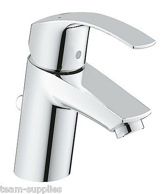GROHE 3326520L Eurosmart Mono Basin Mixer Tap Single Lever + Pop-Up Waste HP LP • 64.95£