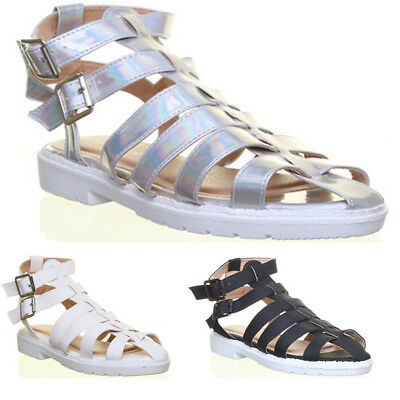 £7.99 • Buy Womens Gladiator Style Side Buckle Strappy Ladies Sandals Size UK 3 - 8