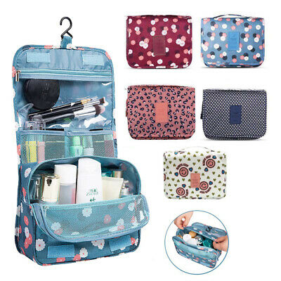 AU7.99 • Buy Travel Cosmetic Storage MakeUp Bag Folding Hanging Organizer Pouch Toiletry