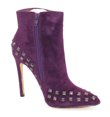 Ladies Studded Suede Ankle Boots Stiletto High Heel Studded Shoes Sizes 3-8 • 12.99£
