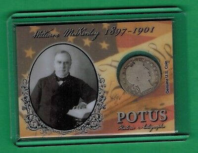 $199.99 • Buy 2018 Historic Autographs Potus William Mckinley 1897 Quarter Dollar Coin 18/36