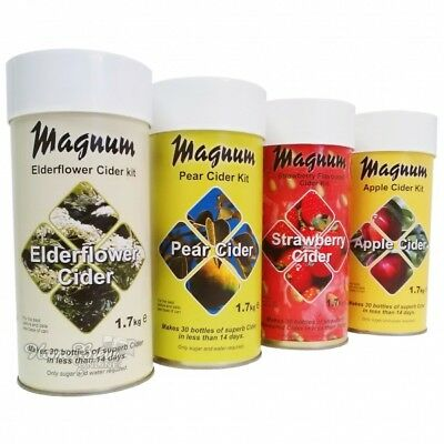 Magnum Cider Making Refill Kit Home Brew Apple Pear Elderflower And Strawberry • 25.95£