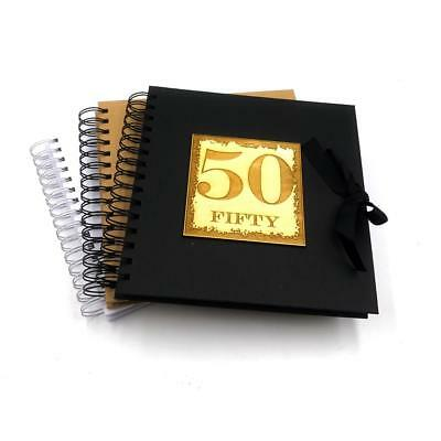 50th Birthday Scrapbook Photo Album Or Guest Book Various Colours SCR-11 • 12.32£