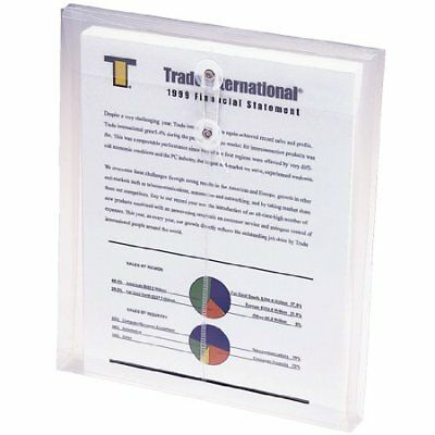 Smead 89540 Clear Poly Envelopes With String-tie Closure - Letter - 8.50  X 11  • 11.63£