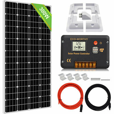 AU199.99 • Buy 300W 12V Solar Panel System Off Grid Battery Charge & Controller For RV Home AU
