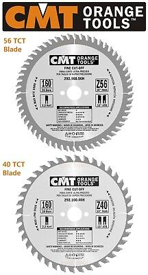 £26.95 • Buy CMT Italian 160mm X 20mm Bore Thin 2.2 Kerf Plunge Circular Saw Blade,40T Or 56T
