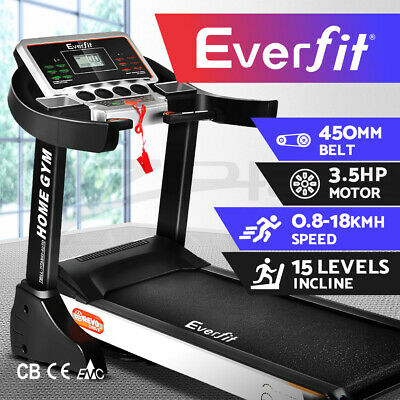 AU649.95 • Buy Everfit Electric Treadmill Auto Incline Home Gym Exercise Machine Fitness