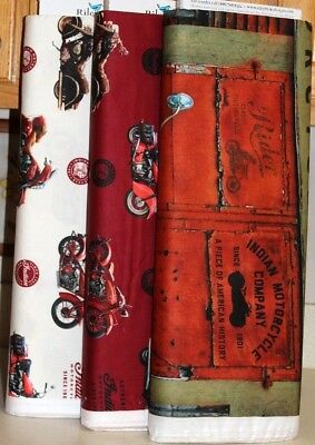 Chief 1947 Motorcycle Digital Print Coordinating Fabric SOLD SEPARATELY  • 16.99$
