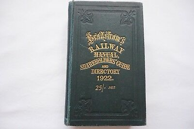 Antique 1922 Bradshaws Railway Manual Shareholders Guide And Directory  • 90£