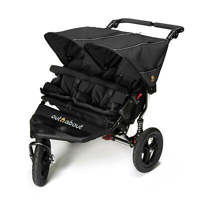 £429 • Buy Out N About DOUBLE Nipper 360 V4 (Raven Black) All Terrain Twin - RRP £599.00