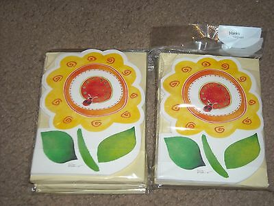 $2.99 • Buy American Greeting Lot Of 120 Blank Cards With Envelopes NEW Sunflower Ladybug