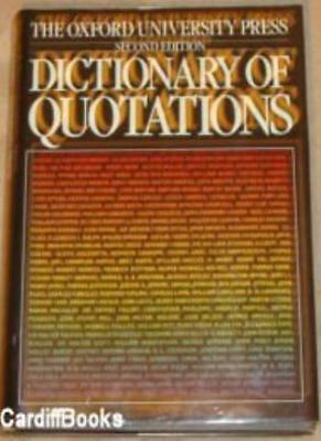 £5.12 • Buy Oxford Dictionary Of Quotations-unknown