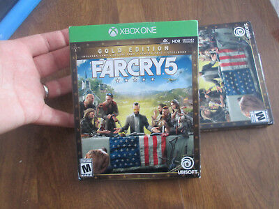 AU124.24 • Buy Far Cry 5 Gold Edition XBOX ONE US EDITION STEELBOOK DELUXE PACK SEASON PASS NEW