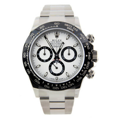 $ CDN37200.29 • Buy Rolex Daytona Stainless White Dial Ceramic Bezel 116500LN