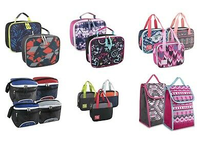 Bulk Wholesale Case Pack Of 24 Lunch Boxes/Cooler Bags For Boys Girls & Adults • 90.41£