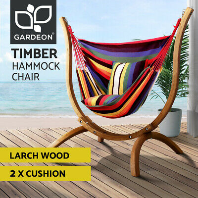 AU259 • Buy Gardeon Outdoor Furniture Lounge Swing Hammock Chair Cushions Patio Seat Wooden