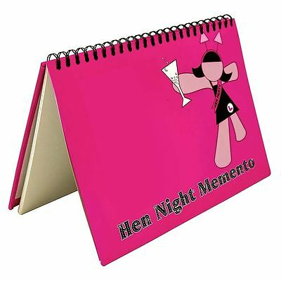 Hen Party Night Memento Comments Photos Memory Scrapbook Book Bride To Be Gift  • 2.99£