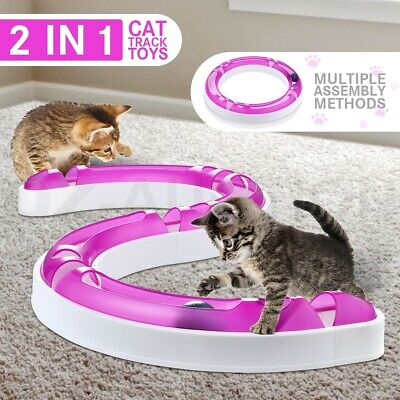 AU27.95 • Buy Interactive Cat Track And Ball Toys Pet Track Ball Kitten Training Senses Play