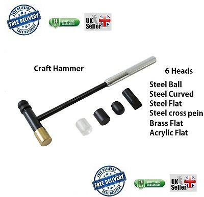 SL Multi Head Craft Hammer For Hobbys Jewellery Craft DIY Nylon Brass Steel Flat • 4.89£