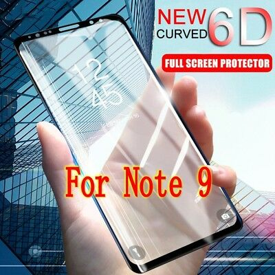 $ CDN2.96 • Buy For Samsung Galaxy Note 9 Curved HQ Full Cover Tempered Glass Screen Protector