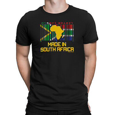 £8.49 • Buy Mens SOUTH AFRICA Organic Eco T-Shirt Cricket BARCODE Flag Rugby Football Gift
