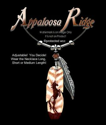 Appaloosa Ridge Necklace - Wild Horses Art Horse Gift Cowgirl Rider - Free Ship' • 12.18£