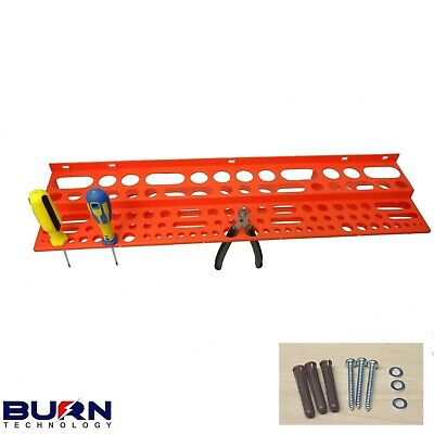 £9.99 • Buy Large 24  Tool Storage Rack For 96 Tools With FIXING KIT Garage Wall Store Tidy