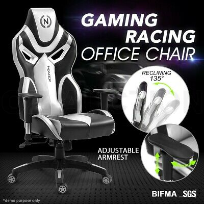 AU219.95 • Buy Ergonomic High Back Computer Office Chair PU Leather Gaming Racing Recliner Seat