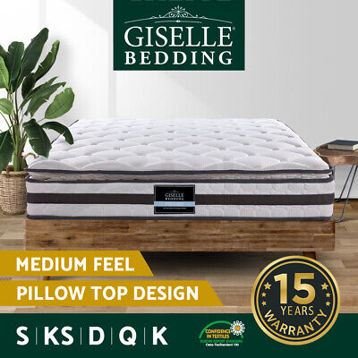 AU199.90 • Buy Giselle Mattress Queen King Single Double Spring Foam Premium Medium Firm 21cm