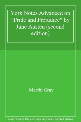 York Notes Advanced On  Pride And Prejudice  By Jane Austen (second Edition)-Ma • 1.89£