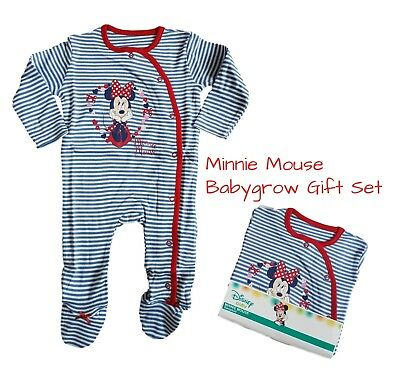 Baby Girls MINNIE MOUSE Babygrow Sleepsuit Gift 100% Cotton     • 4.99£