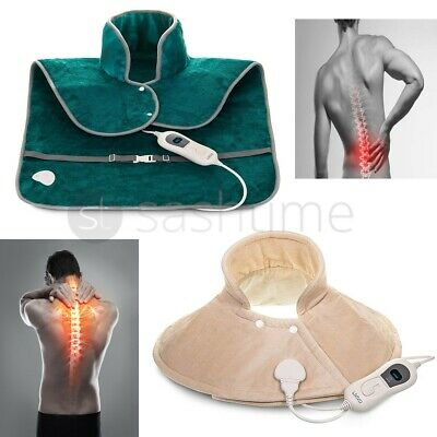 Therapeutic Electric Heat Pad Soothing Muscle Tension Back Neck Pain Relief Body • 19.95£