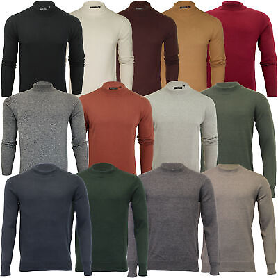 Mens Turtle Neck Jumper By Brave Soul Knitted Sweater Top Polo Pullover Fashion • 13.89£