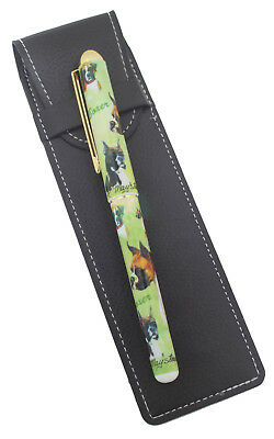 Boxer Breed Of Dog Themed Pen With Pen Case Perfect Gift • 12.99£