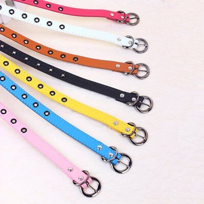 $6.67 • Buy PU Leather Kid Toddler Adjustable Belt Boy Girl Buckle Casual Waistband Strap US