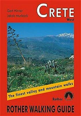 Crete West: ROTH.E4803: Rother Walking Guide By Jakob Murb�ck Paperback Book The • 6.99£
