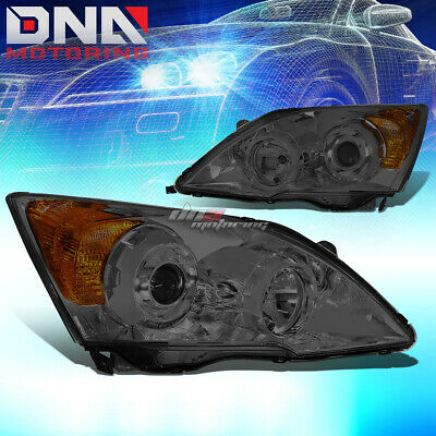 $169.99 • Buy For 07-11 Honda Crv Smoked Housing Amber Side Projector Headlight Oe Replacement