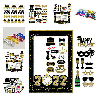 £9.99 • Buy 2022 Happy New Year's Eve Party Supplies Masks Photo Booth Props Decoration