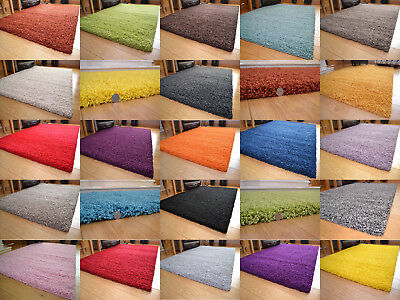 Small And Large Size Thick Plain Soft Shaggy Living Room Rug Bedroom Floor Rugs • 24.99£