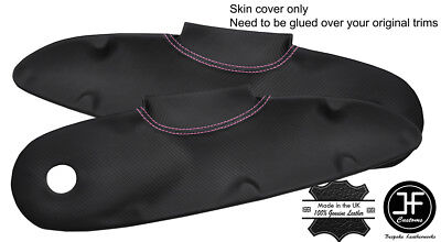 $ CDN141.42 • Buy Pink Stitch 2x Door Card Trim Carbon Vinyl Covers For Lotus Elise S1 Style 2