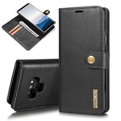 $ CDN24.99 • Buy Black Genuine Soft Leather Wallet Purse Case Cover For Samsung Galaxy Note 9/8