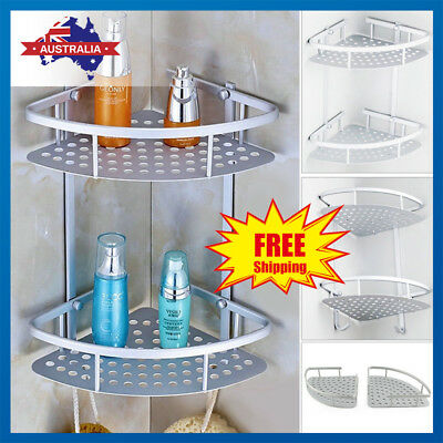 AU24.69 • Buy 3 Tier Shower Corner Shelf Caddy Bathroom Shelves Organiser Bath Storage Rack