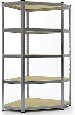 Heavy Duty BLACK Corner Shelving 5 Tier Garage Storage Racking Shed Warehouse • 38.94£
