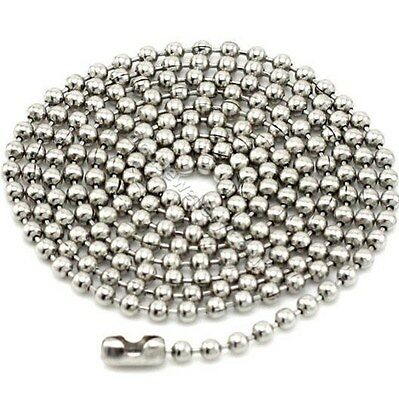 Stainless Steel 2.5mm Ball Chain Necklace 16  - 37  • 2.99£