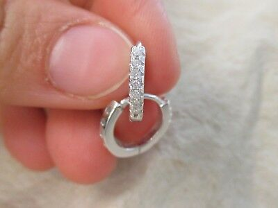 AU23.99 • Buy NEW - 100% 925 Sterling Silver VERY SMALL 9mm Cz Huggies For  BABIES GIRLS WOMEN