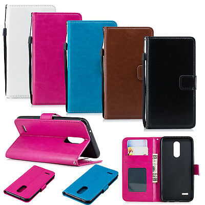 AU6.59 • Buy Wallet Case Magnetic Flip Soft Leather Phone Cover Stand For LG Samsung Xiaomi