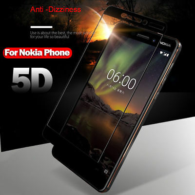 AU2.57 • Buy 5D Curved Tempered Glass Screen Protector Guard Film For Nokia 6/7 Plus X5 6.1