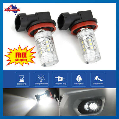 AU23.56 • Buy 2 X H8/H9/H11 80W 16 LED Fog Light Driving Globe Bulb Projector Headlight 6000K