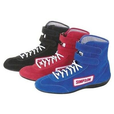 $99.95 • Buy Simpson Safety 28900R Red High Top Race Driving Shoes SFI And FIA Rated Size 9