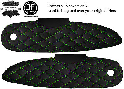 $ CDN186.63 • Buy Green Diamond Stitch 2x Door Card Trim Leather Covers For Lotus Elise S1 96-01